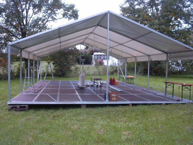 8x15m mit kasettenfussboden party peter. Black Bedroom Furniture Sets. Home Design Ideas